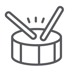 Drum line icon music and beat percussion vector