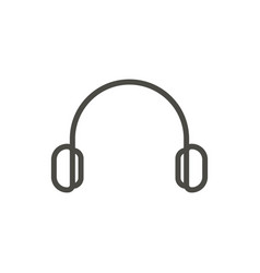 earphone icon line dj symbol vector image