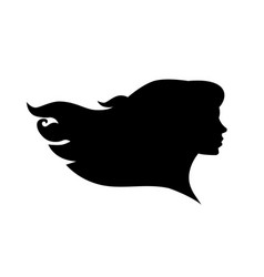 female head silhouette beauriful girl woman vector image