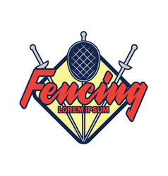 Fencing logo with text space for your slogan vector