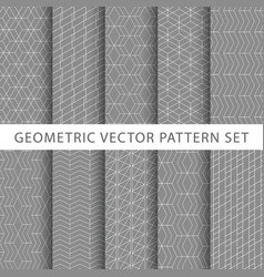 Geometric pattern set vector