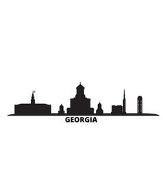 Georgia city skyline isolated vector
