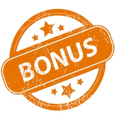 Grunge bonus logo vector image