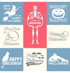 Halloween Badges set vector image