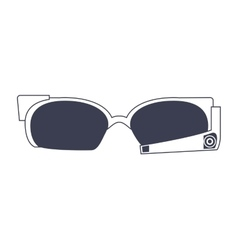 high technology glasses icon vector image