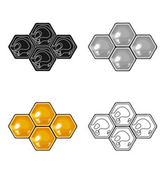 honeycombs icon in cartoon style isolated on white vector image vector image
