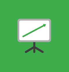 Icon concept of sales chart with arrow moving up vector