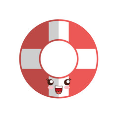Kawaii safety float icon vector