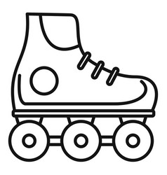 kid inline skates icon outline style vector image