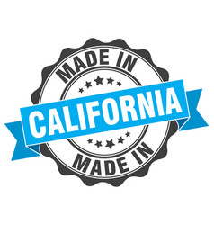 Made in california round seal vector