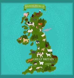 Map great britain vector