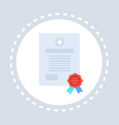 Medical form document certificate icon healthcare vector