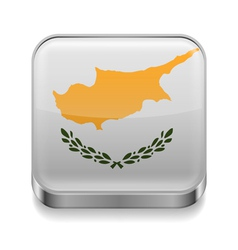 Metal icon of Cyprus vector image