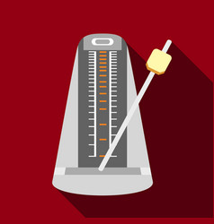 Metronome icon flat style vector