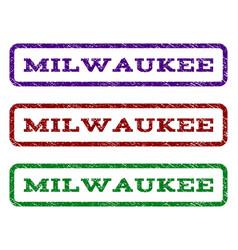 milwaukee watermark stamp vector image