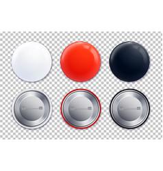 mockup badge transparent icon set vector image