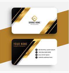 Modern black and golden business card design vector