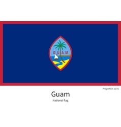 National flag of Guam with correct proportions vector