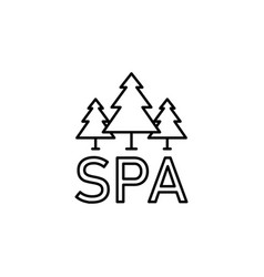 natural spa forest outline icon signs and symbols vector image