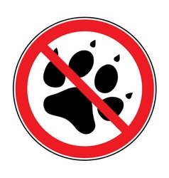 no pets sign vector image