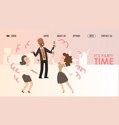 office party website design vector image