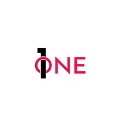 One logo logo icon template design vector