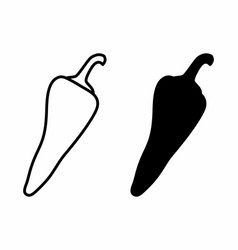 pepper icons vector image