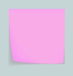 pink memo stick concept background realistic vector image