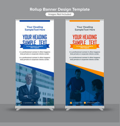 Professional corporate roll up banners vector