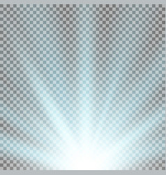 rays of light from below aqua color vector image
