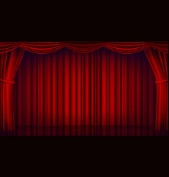 Red theater curtain theater opera or vector