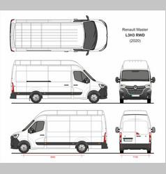 Renault master cargo delivery van l3h3 rwd 2020 vector