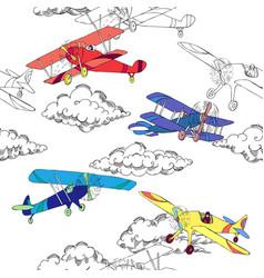 Seaml colors airplanes-01 vector