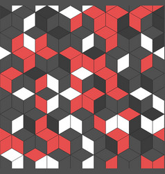 Seamless geometric pattern with cubes vector