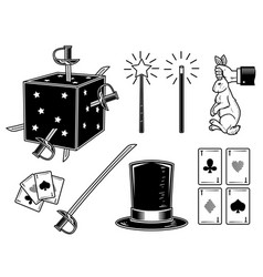 set magical elements vector image