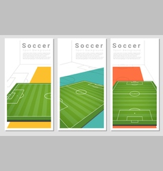 Set of Football field graphic background 1 vector