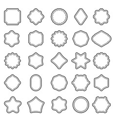set of outline badge shape vector image