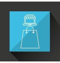 Shopping digital internet bag gift icon vector