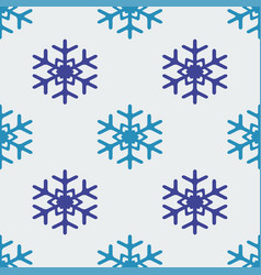 snowflake seamless vector image