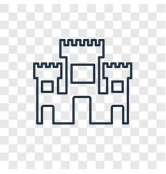 Solomon temple in jerusalem concept linear icon vector