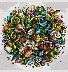 Sri lanka hand drawn cartoon doodles vector