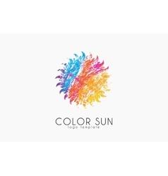 Sun logo design color creative logo star vector
