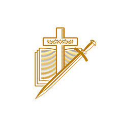 The cross of jesus christ the holy scriptures vector
