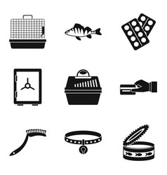 Transporting animal icons set simple style vector