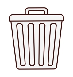 Trash can icon image vector