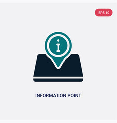 Two color information point icon from maps vector