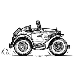 vintage convertible vector image