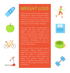 weight loss poster and icons vector image