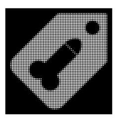 White halftone dildo tag icon vector