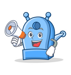 with megaphone pencil sharpener character cartoon vector image
